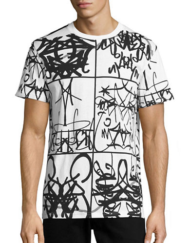 Moschino Abstract Print Graphic T-Shirt-WHITE-EU 48/Medium 88578137_WHITE_EU 48/Medium