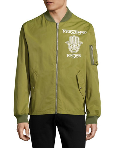 Moschino Hamsa Bomber Jacket-GREEN-EU 48/Medium 88890779_GREEN_EU 48/Medium