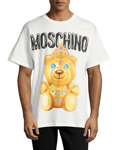 Moschino Relaxed Bear Tee-WHITE-Medium 88890830_WHITE_Medium