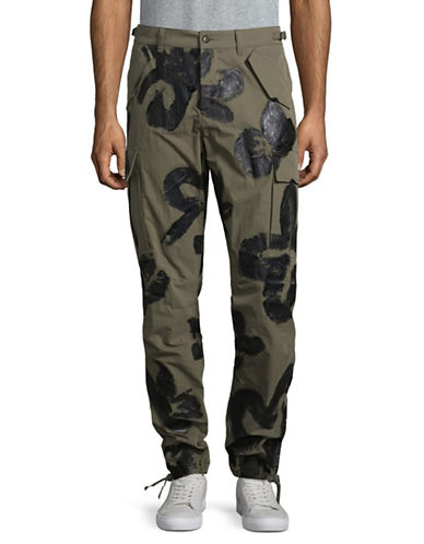 Moschino Handpainted Cargo Pants-GREEN-EU 46/Small
