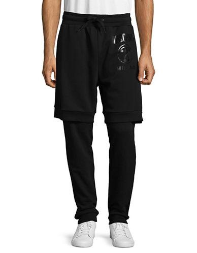 Moschino Milano Fooler Leggings-BLACK-EU 46/Small