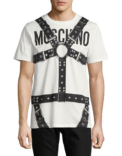 Moschino Harness Graphic T-Shirt-WHITE-EU 52/X-Large