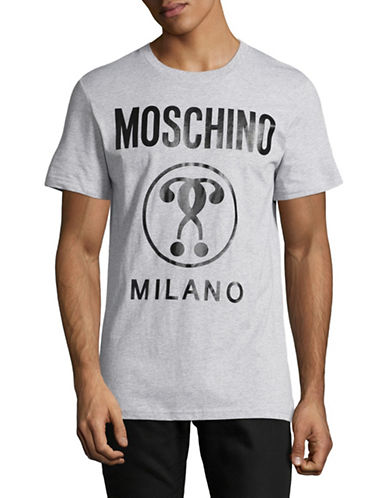 Moschino Question Mark T-Shirt-GREY-EU 48/Medium