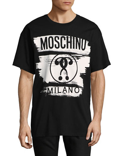 Moschino Abstract Question Mark T-Shirt-BLACK-EU 48/Medium 89300529_BLACK_EU 48/Medium