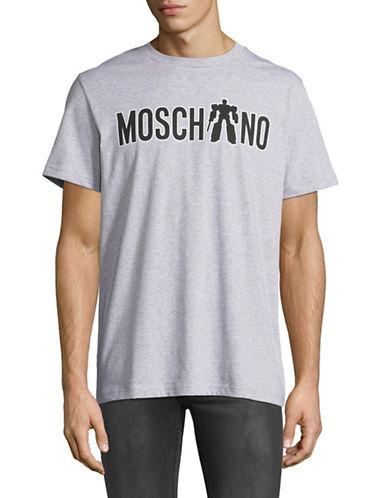 Moschino Transformers Logo Graphic Tee-GREY-EU 50/Large