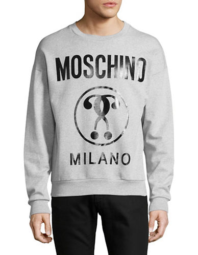 Moschino Question Mark Sweatshirt-GREY-EU 52/X-Large