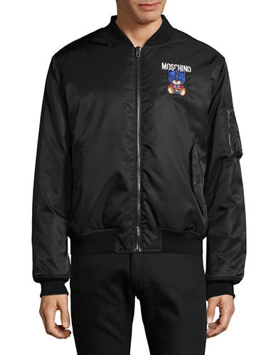 Moschino Transformer Teddy Bomber-BLACK-EU 48/Medium