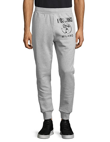 Moschino Logo Jogger Pants-GREY-Small 89802893_GREY_Small