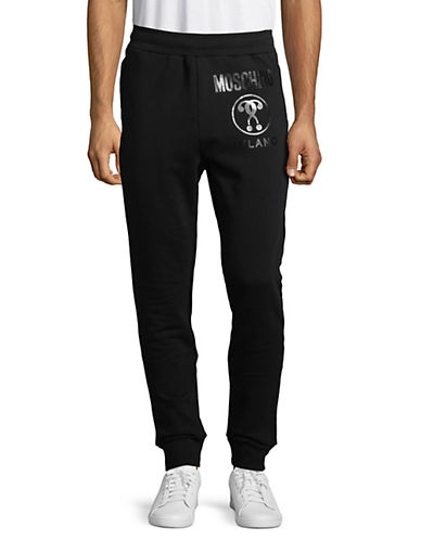 Moschino Logo Jogger Pants-BLACK-Small 89802900_BLACK_Small