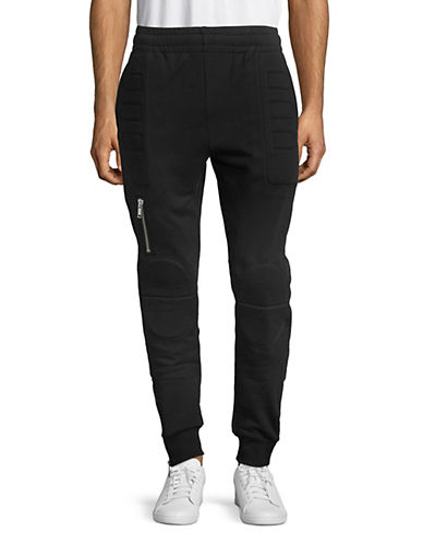 Moschino Moto Cotton Jogger Pants-BLACK-Small 89802886_BLACK_Small