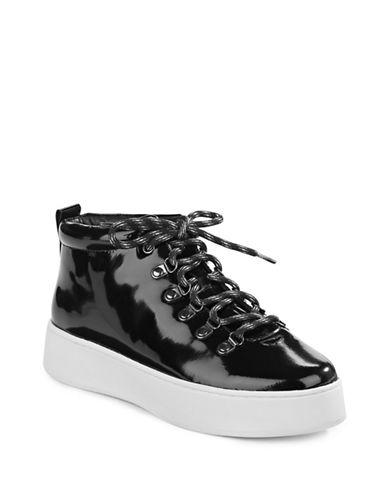 Atelje 71 Patent Leather Platform Sneakers-BLACK-9.5