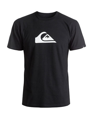 Quiksilver Mountain and Wave T-Shirt-BLACK-Medium