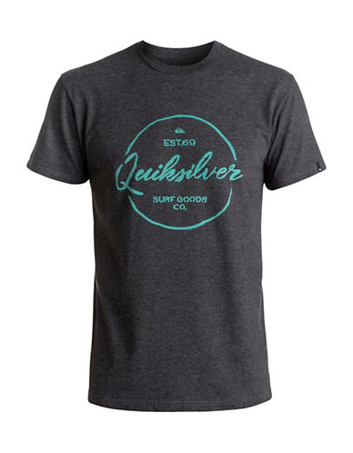 Quiksilver Silvered Logo T-Shirt-GREY-Small 89058461_GREY_Small