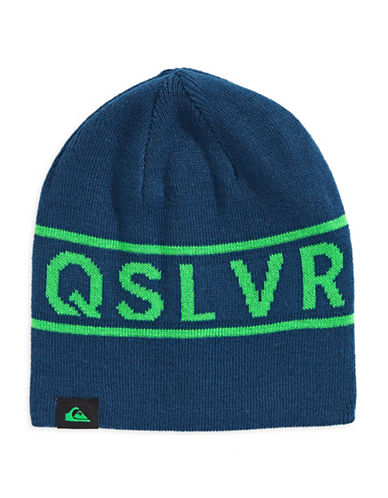 Quiksilver Knox Graphic Beanie-BLUE-One Size
