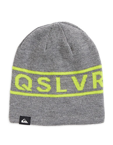 Quiksilver Knox Graphic Beanie-GREY-One Size