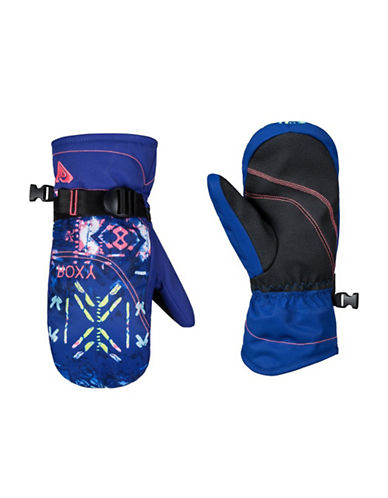 Roxy Jetty Printed Mittens-BLUE-Large