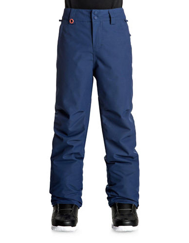 Quiksilver Estate Youth Waterproof Snow Pants-BLUE-Large