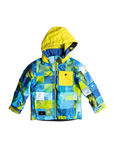 Quiksilver Printed Waterproof Hooded Jacket-GREEN-2