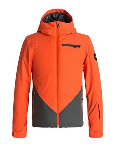 Quiksilver Suit Up Youth Waterproof Hooded Jacket-ORANGE-Large