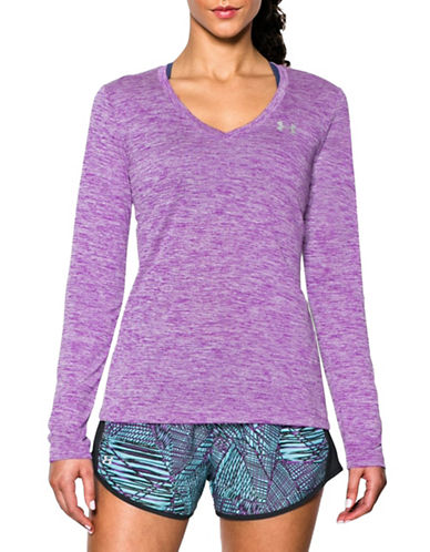 Under Armour Long Sleeve Tech Twist Top-PURPLE-X-Small 88485465_PURPLE_X-Small