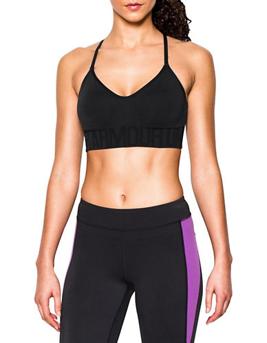 Under Armour Solid Seamless Sports Bra-BLACK-Small 88186980_BLACK_Small
