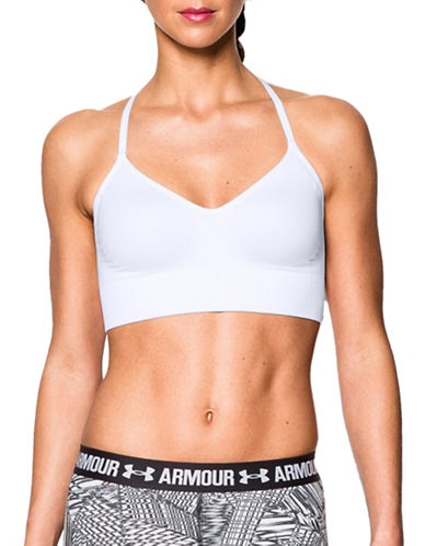 Under Armour Seamless Sports Bra-WHITE-Large 89154000_WHITE_Large