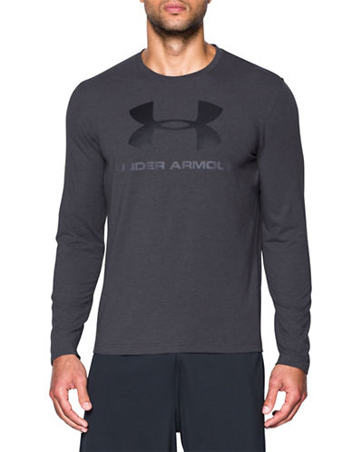 Under Armour Sportstyle Cotton Blend Tee-GREY-X-Large 89055059_GREY_X-Large