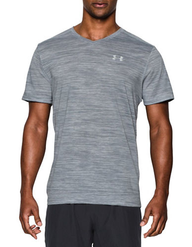 Under Armour Streaker Run V-Neck T-Shirt-LIGHT GREY-Small 88443663_LIGHT GREY_Small