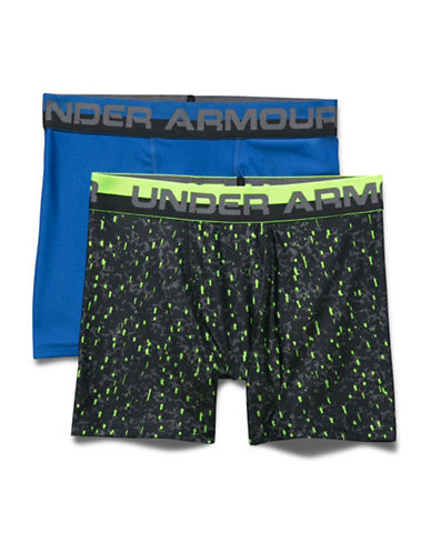 Under Armour Two-Pack Boxerjock Set-BLUE/PRINT-X-Small
