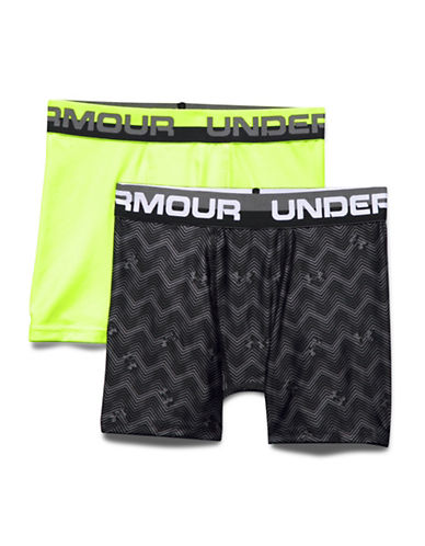 Under Armour Two-Pack Boxerjock Set-GREEN/BLACK-X-Large