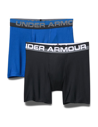 Under Armour Two-Pack Boxerjock Set-BLUE/BLACK-Small
