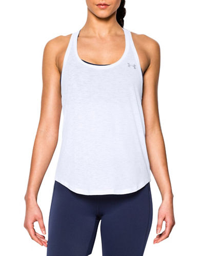 Under Armour Slub Flowy Active Tank Top-WHITE-X-Large 88413167_WHITE_X-Large