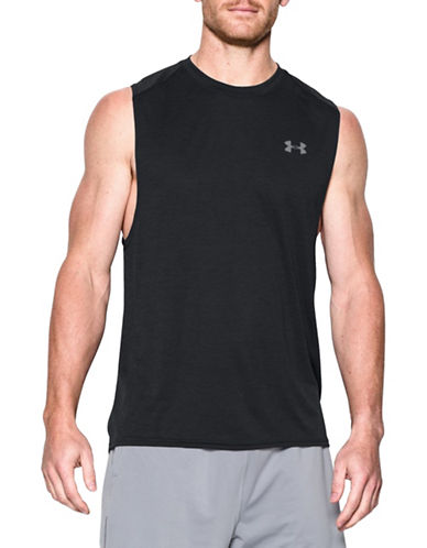Under Armour Tech Muscle Tank-BLACK-Large 88443670_BLACK_Large