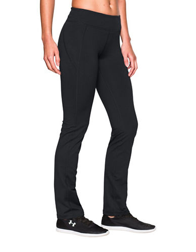 Under Armour UA Mirror Straight-Leg Pants-BLACK-Large
