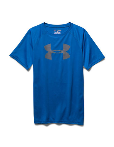 Under Armour Tech Big Logo T-Shirt-BLUE-Medium