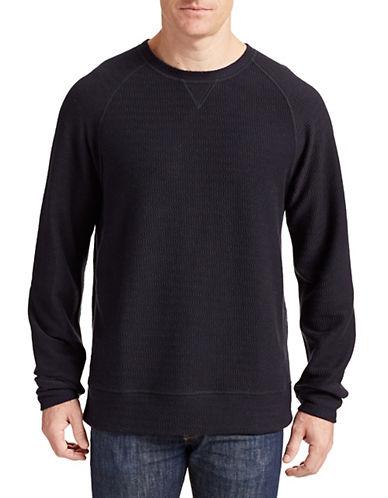Billy Reid Jacquard Crew Neck Sweater-NAVY-Large