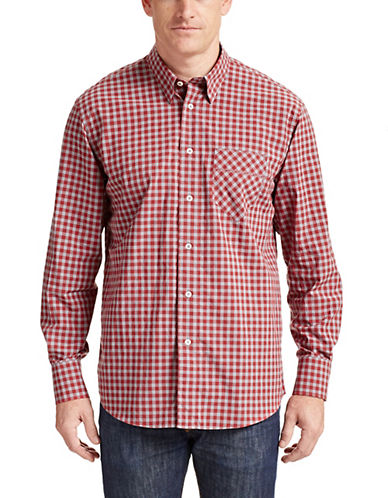Billy Reid Wallant Plaid Cotton Shirt-ROLLING RED-X-Large