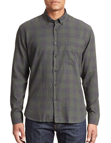 Billy Reid Rosedale Sport Shirt-PINE GREEN-Small