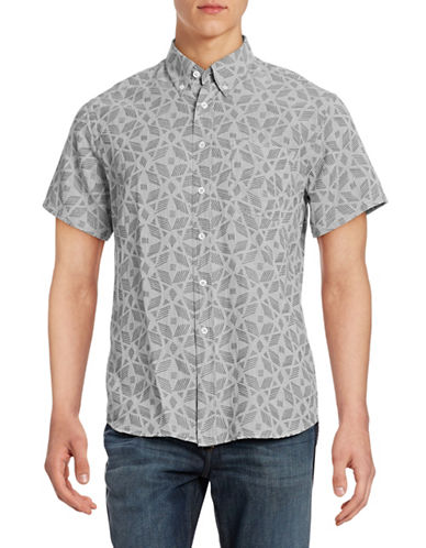 Billy Reid Tuscumbia Woven Sport Shirt-GREY-Medium
