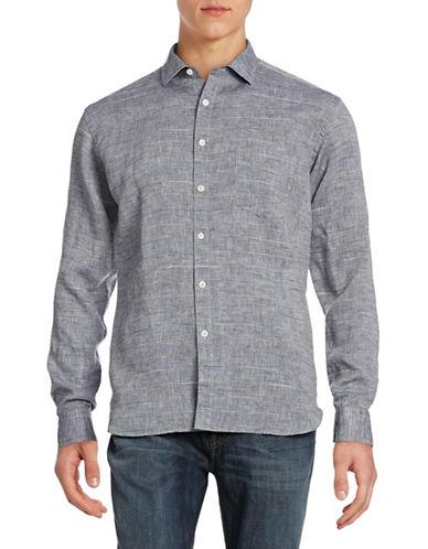 Billy Reid John Linen Sport Shirt-CHAMBRAY-Large