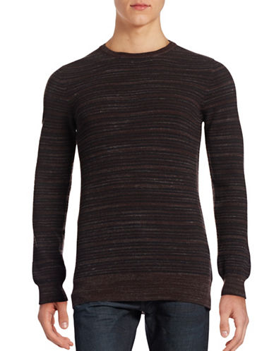 Billy Reid Blurred Stripe Wool Sweater-BROWN-Small 88555711_BROWN_Small