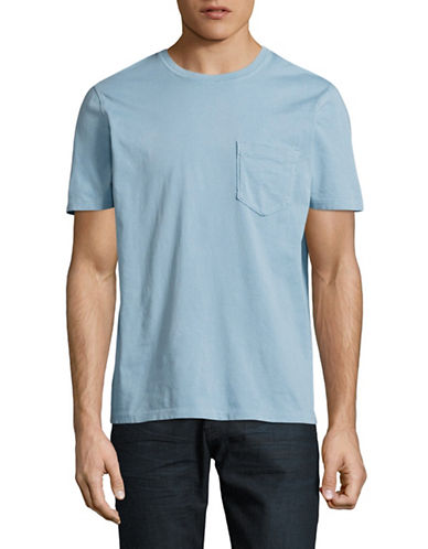Billy Reid Washed Pocket T-Shirt-BLUE-Large