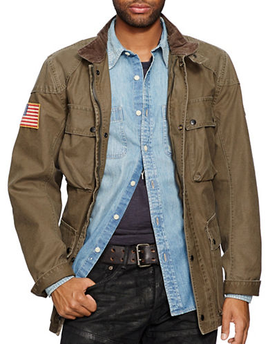 Denim & Supply Ralph Lauren Waxed Cotton Field Jacket-GREEN-Large 87737349_GREEN_Large