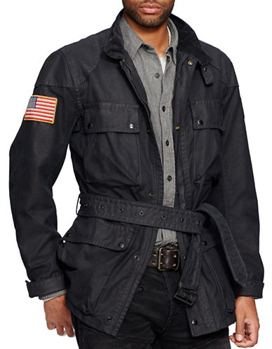 Denim & Supply Ralph Lauren Waxed Cotton Field Jacket-POLO BLACK-XX-Large 87737356_POLO BLACK_XX-Large