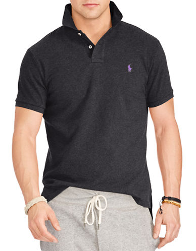 Polo Ralph Lauren Classic-Fit Pique Polo Shirt-BLACK-Medium