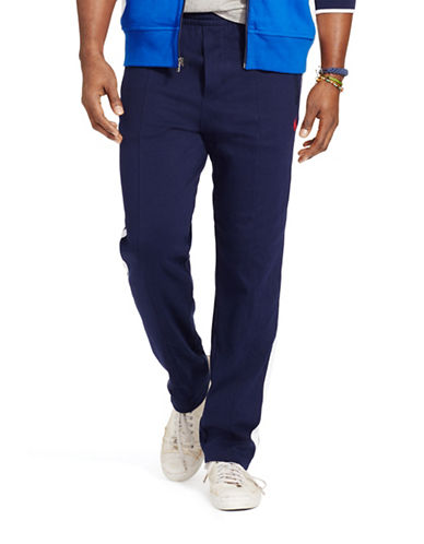 Polo Ralph Lauren Big and Tall Side-Stripe Track Pants-FRENCH NAVY-1X Big 88202572_FRENCH NAVY_1X Big