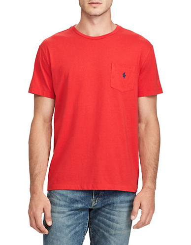 Polo Ralph Lauren Classic-Fit Pocket Crew Neck T-Shirt-RL 2000 RED-Medium