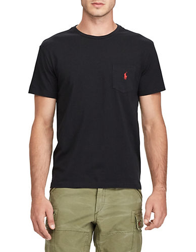 Polo Ralph Lauren Classic-Fit Pocket Crew Neck T-Shirt-RL BLACK-Large 87885699_RL BLACK_Large
