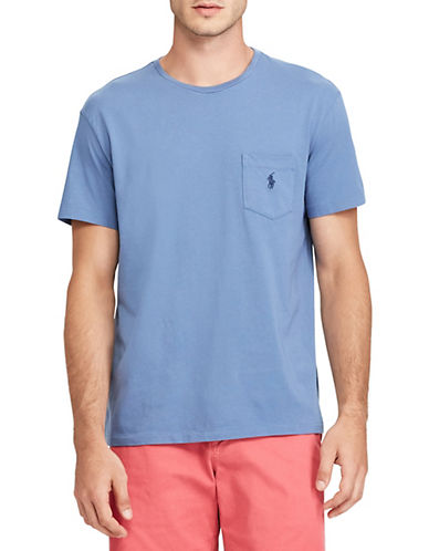 Polo Ralph Lauren Classic-Fit Pocket Crew Neck T-Shirt-CARSON BLUE-Medium