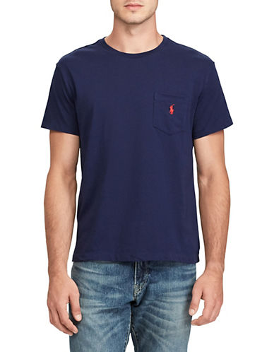 Polo Ralph Lauren Classic-Fit Pocket Crew Neck T-Shirt-FRENCH NAVY-Small